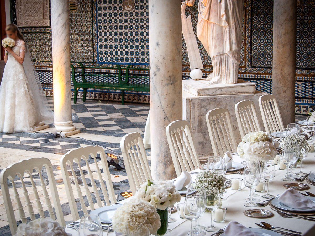 Catering boda Sevilla: Casa Pilatos - Patio para bodas en Sevilla